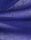 Italian yarn dyed subtle plaid wool gauze - black/blue