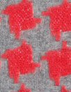 Italian gray/red houndstooth wool suiting 2 yd