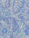 Italian flowery blues all-wool jacquard weave