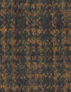 Italian bluestone/butterscotch plaid virgin wool doubleknit