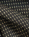 Italian wool stretch jacquard woven - chocolate dot