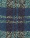 Italian virgin wool yarn dyed plaid - teal/indigo/sand