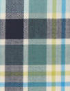 famous designer fine wool plaid - blues/aloe