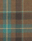 famous designer merino wool plaid - chocolate/teal