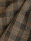 famous designer merino wool plaid - cocoa/teal