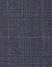 famous designer super 130 wool plaid - midnight