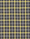 famous designer virgin wool plaid - carbon/yellow