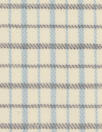 famous designer virgin wool plaid - ivory/robin's egg