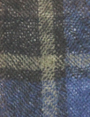 Japanese yarn dyed plaid wool gauze - navy/camel