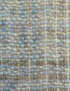 Italian robin's egg/taupe wool plaid lightweight woven