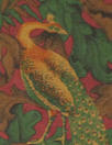 Italian silk/wool twill woven - pheasants