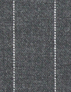 Italian virgin wool pinstripe woven - off black 2 yd