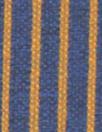 Italian doublesided wool stretch coating - pumpkin/navy