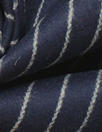 Italian wool pinstripe soft and cozy suiting - midnight/sand 1.75 yd