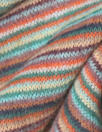 Italian wool blend, yarn-dyed autumn tones stripe sweater