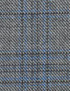 Italian all-wool charcoal/blue glen plaid suiting