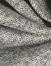 NY designer classic gray/white wool blend tweed suiting