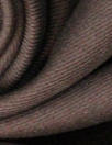 famous designer virgin wool doublecloth twill - brunette