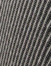 famous designer virgin wool wavy stripe - black/silver