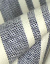 Italian linen/cotton stretch woven denim/natural stripe