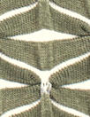 textured yarn dye novelty knit - army green