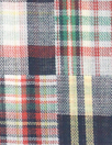 NY designer yarn dye plaid cotton shirting - patchwork